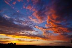 Nuvens vívidas do céu Imagem de Stock Royalty Free