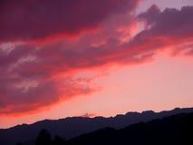 Nuvens vermelhas fotografia de stock