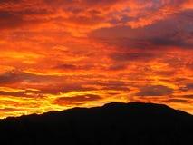 Nuvens vermelhas Imagens de Stock Royalty Free