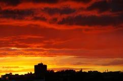 Nuvens vermelhas Fotos de Stock Royalty Free