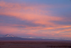 Nuvens vermelhas dramáticas Fotografia de Stock