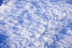 Nuvens vistas de acima Fotografia de Stock Royalty Free