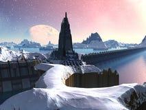 Nuvochina et la Grande Muraille illustration stock