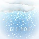 Nuvola acquerella della neve Immagini Stock Libere da Diritti
