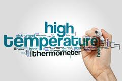 Nuvola ad alta temperatura di parola Immagini Stock