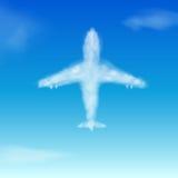 Nuvola. Aeroplano Fotografia Stock