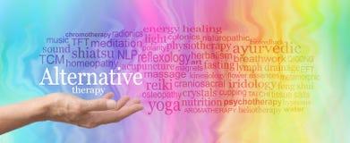 Nuvola alternativa di parola di terapia immagine stock