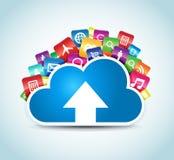 Nuvola Apps Fotografia Stock Libera da Diritti