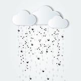 Nuvola astratta che computa illustrazione in bianco e nero Fotografia Stock