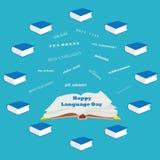 Nuvola benvenuta di parola nelle lingue differenti Giorno di lingua Immagini Stock Libere da Diritti