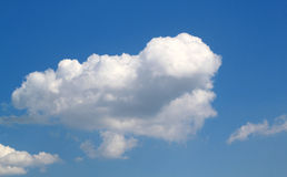 Nuvola bianca Fotografia Stock