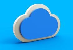 Nuvola blu 3D Fotografie Stock Libere da Diritti