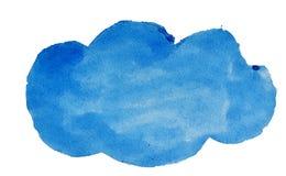 Nuvola blu dell'acquerello per progettazione Fotografie Stock