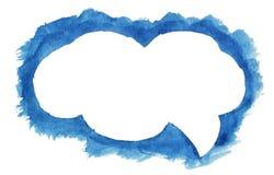 Nuvola blu dell'acquerello per progettazione Immagini Stock Libere da Diritti