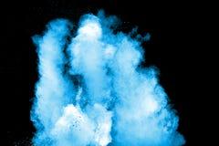 Nuvola blu della spruzzata della polvere di colore Fotografia Stock Libera da Diritti