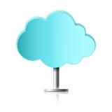 Nuvola blu sulla gamba Illustrazione Vettoriale