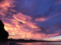 Nuvola Cannes leggera fotografie stock