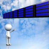 Nuvola che computa, concetto di connettività di tecnologia fotografia stock libera da diritti