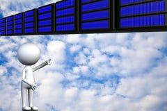 Nuvola che computa, concetto di connettività di tecnologia immagini stock