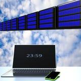 Nuvola che computa, concetto di connettività di tecnologia immagini stock libere da diritti