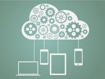 Nuvola che computa concetto piano Fotografie Stock