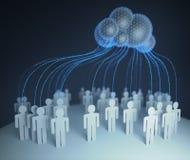 Nuvola che computa la gente collegata illustrazione vettoriale