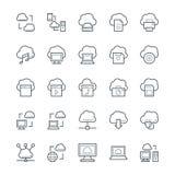 Nuvola che computa le icone fresche 1 di vettore Fotografia Stock Libera da Diritti