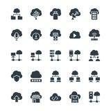 Nuvola che computa le icone fresche 3 di vettore Immagine Stock