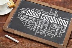 Nuvola che computa sulla lavagna Immagine Stock