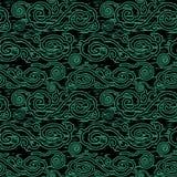 Nuvola cinese orientale del fondo verde senza cuciture antico royalty illustrazione gratis
