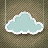 Nuvola come retro segno Fotografie Stock Libere da Diritti