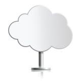 Nuvola come supporto Fotografie Stock Libere da Diritti