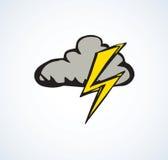 Nuvola con fulmine Illustrazione di vettore Immagine Stock Libera da Diritti