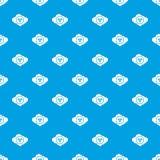 Nuvola con il blu senza cuciture del modello di simbolo di rischio biologico royalty illustrazione gratis