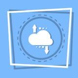 Nuvola con il bottone di web di stoccaggio di backup dei dati di Digital dell'icona della freccia Fotografie Stock Libere da Diritti