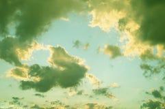 Nuvola con il cielo Fotografia Stock