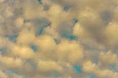 Nuvola con il cielo blu, tono d'annata Fotografia Stock