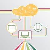 Nuvola con il contenuto Fotografia Stock