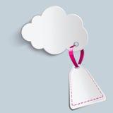 Nuvola con il prezzo futuro Fotografia Stock Libera da Diritti