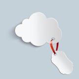 Nuvola con un prezzo da pagare Illustrazione di Stock