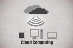 Nuvola Cpmputing Fotografia Stock
