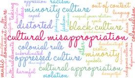 Nuvola culturale di parola di appropriazione indebita illustrazione vettoriale