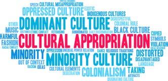 Nuvola culturale di parola di appropriazione royalty illustrazione gratis