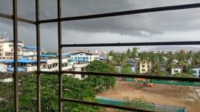Nuvola dalla finestra Fotografie Stock