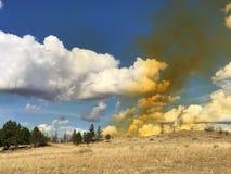 Nuvola del biossido di azoto Fotografia Stock
