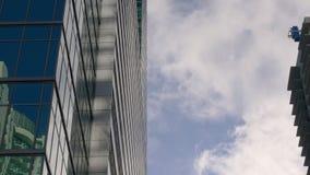 Nuvola del cielo blu di giorno di estate di Miami che esegue 4k Florida S.U.A. stock footage