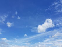 Nuvola del cielo ventosa Fotografie Stock Libere da Diritti