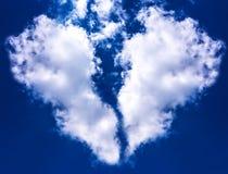 Nuvola del cuore rotto Fotografia Stock