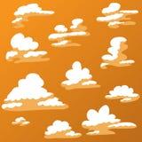 Nuvola del fumetto a colori il colore caldo Fotografie Stock