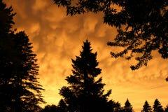 Nuvola del fuoco Fotografie Stock Libere da Diritti